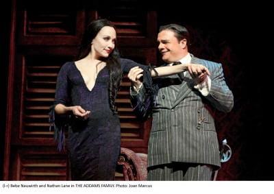 Bebe Neuwirth and Nathan Lane the addams family- the musical